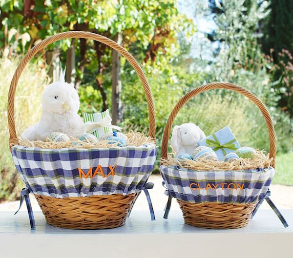 If you're interested in starting your own traditions and finding chic Easter baskets for your sweet little one, we've rounded up our favorites for boys and girls on Esty.com and Pottery Barn Kids.