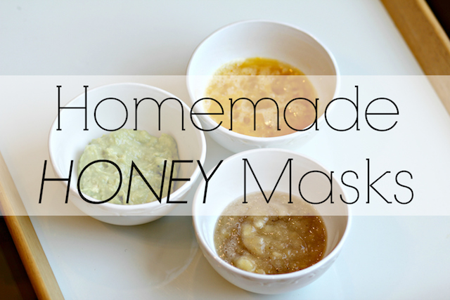 DIY homemade honey masks
