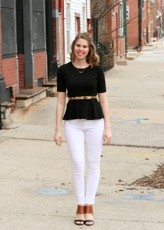 white pants: spring staple #fashionfriday | So Chic Life