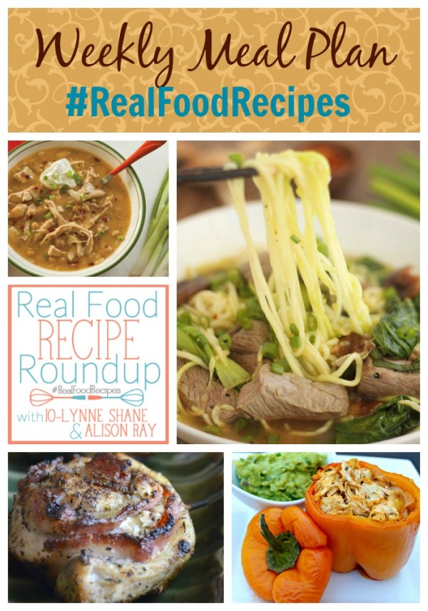 real food recipes weekly meal plan