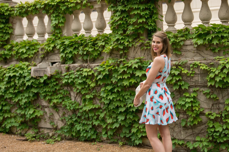 The Kissing Booth Blog - Floral Spring dress for easter