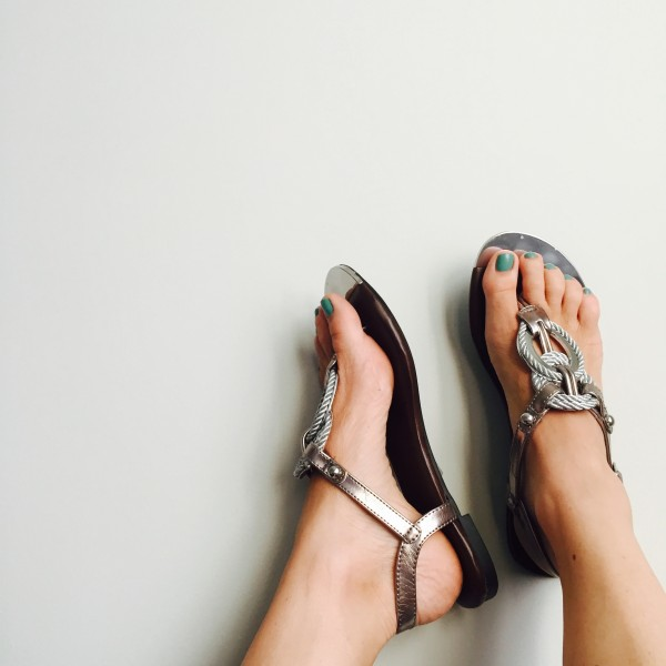 braided metallic sandals