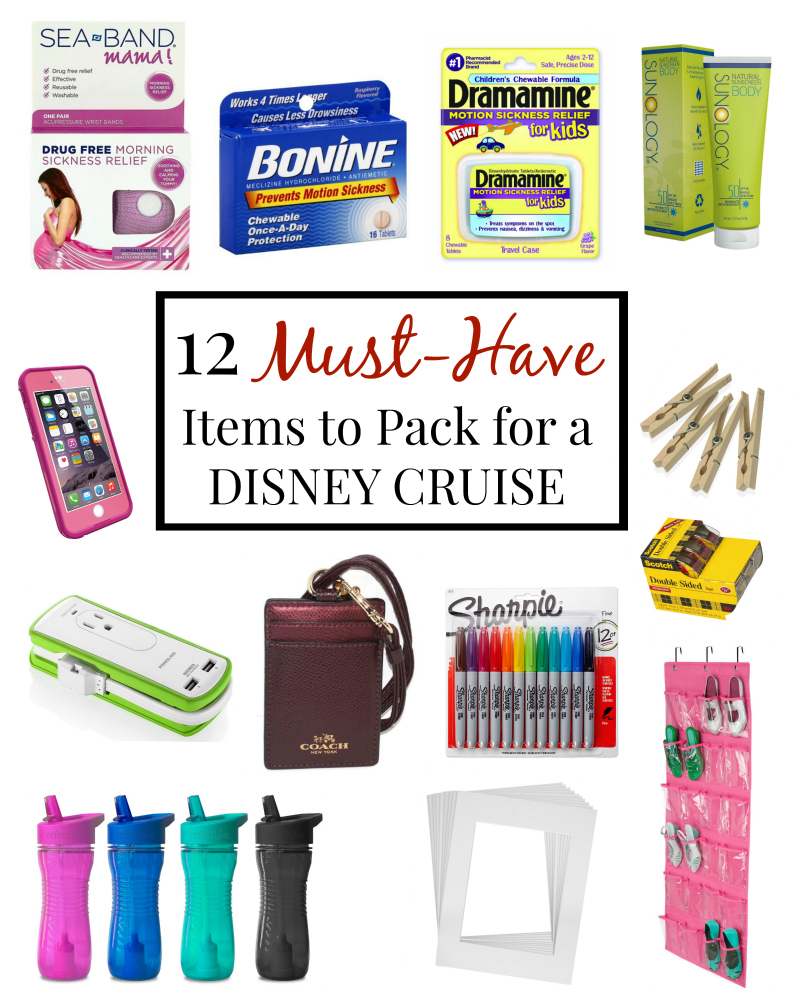 What to Pack for a Disney Cruise 12 Must Have Items You Need on a Disney Cruise via @SoChicLife