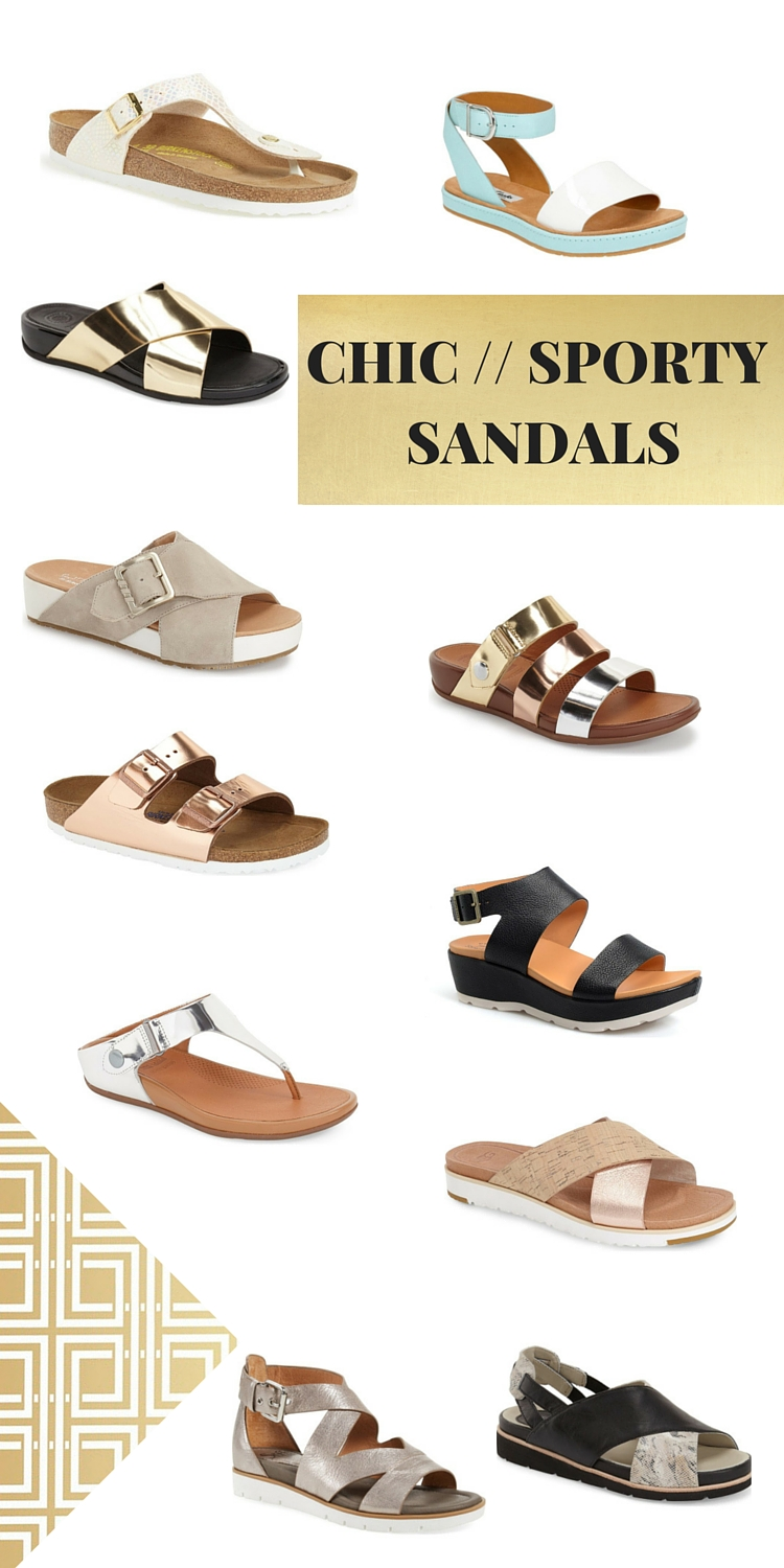 Chic Sporty Sandals for Summer