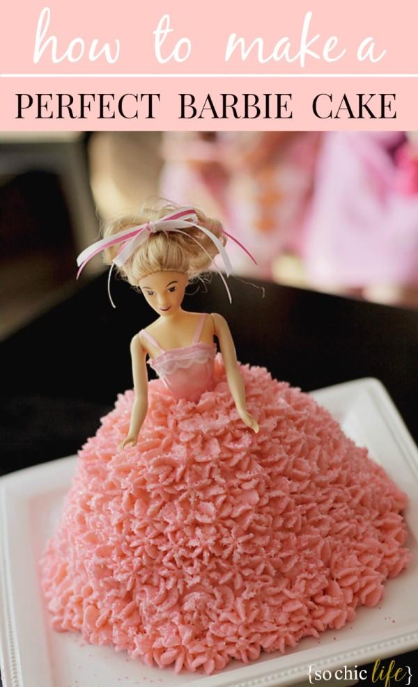 Astonishing Barbie Birthday Cake Funny Birthday Cards Online Elaedamsfinfo