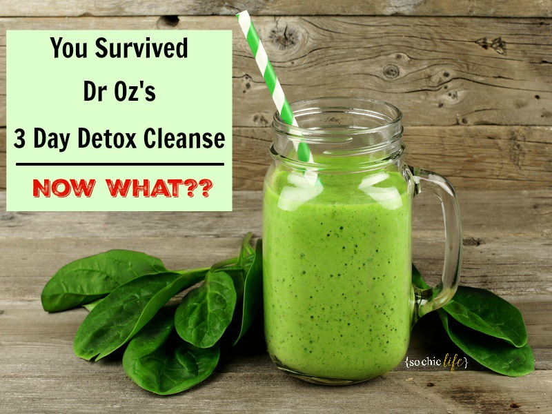 You Survived Dr Oz 3 Day Detox Cleanse
