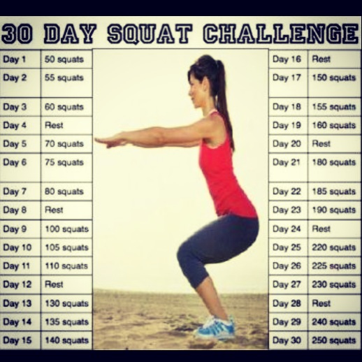 30 Day Squat Challenge Who S With Me