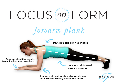 correct form for forearm plank