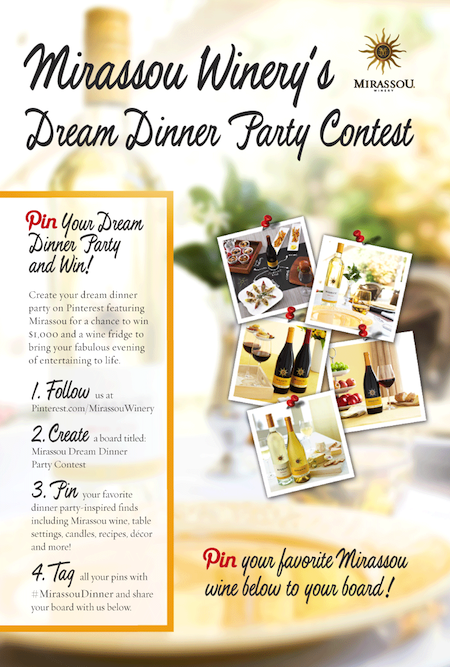 Mirassou Winery's Dream Dinner Party Contest