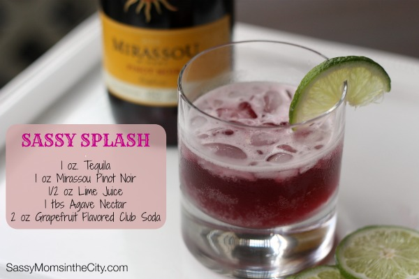 wine cocktails with mirassou pinot noir