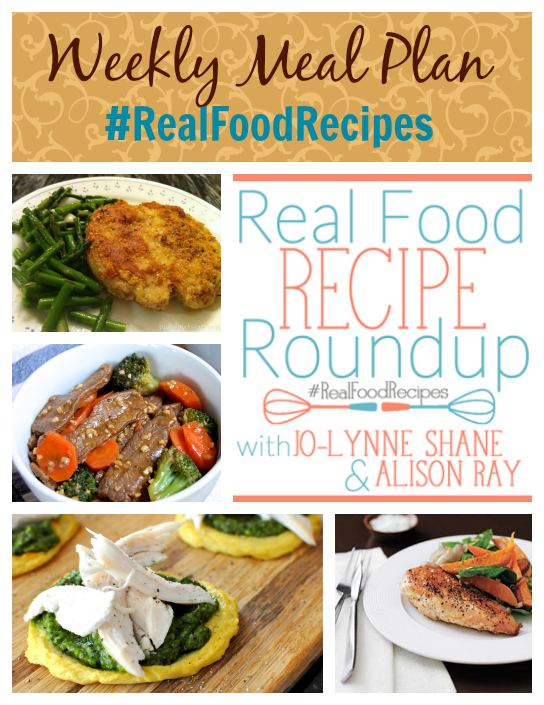 real food recipes and weekly meal plan