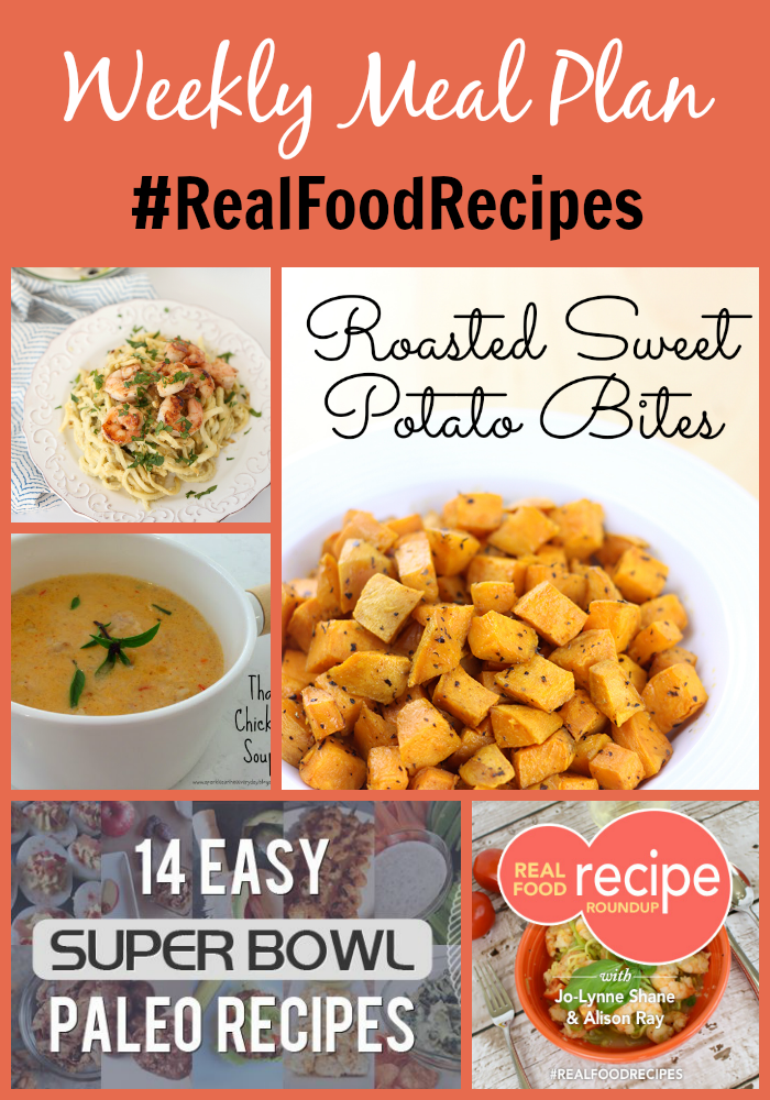 weekly meal plan featuring super bowl paleo recipes