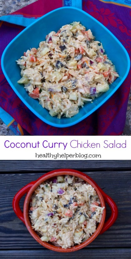 coconut curry chicken salad