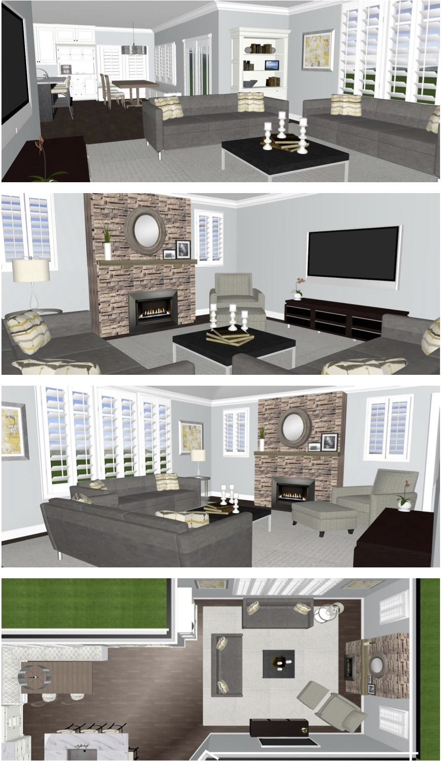 space planning a family room
