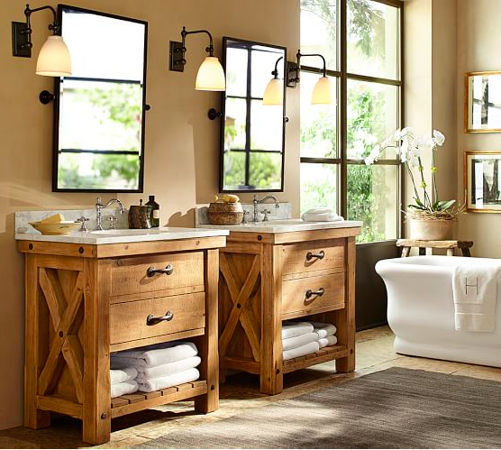awesome pottery barn bathrooms designs | Bathroom Trends: Farmhouse Inspiration Ideas | So Chic Life
