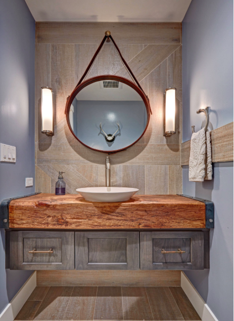 Industrial Eclectic Farmhouse Powder Room