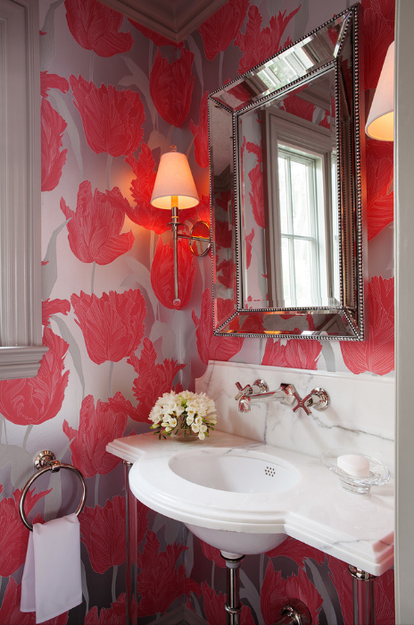Wallpaper Inspiration for Powder Room Osborne Little Floral Wallpaper